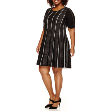 jcpenney.com | Studio 1 Elbow Sleeve Sweater Dress-Plus
