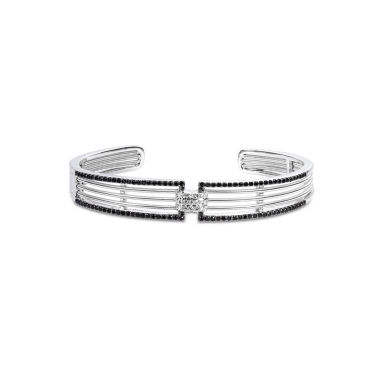 jcpenney.com | Womens Black Spinel Sterling Silver Bangle Bracelet
