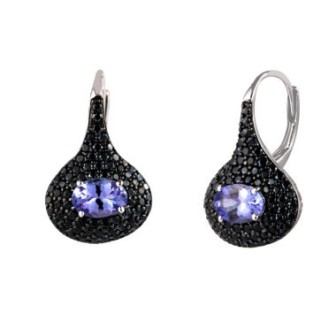 jcpenney.com | Purple Tanzanite Sterling Silver Drop Earrings