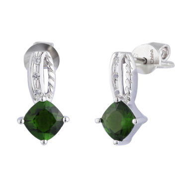 jcpenney.com | Green Chrome Diopside Sterling Silver Drop Earrings