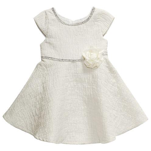 Young Land Short Sleeve Party Dress - Preschool Girls