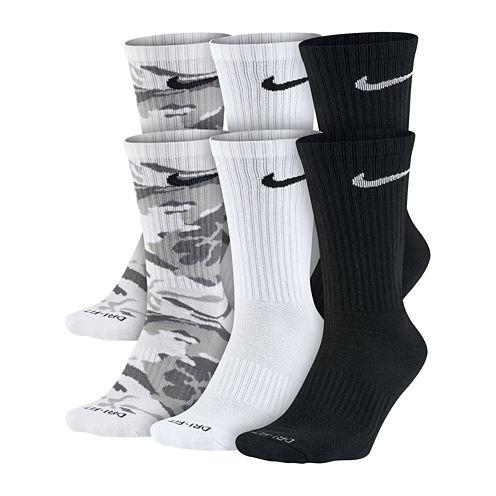 Nike® Mens 6-pk. Dri-FIT Mix Camo Crew Socks