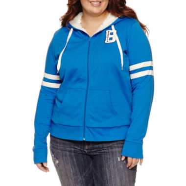 jcpenney.com | Flirtitude Active Sherpa Lined Hoodie- Juniors Plus