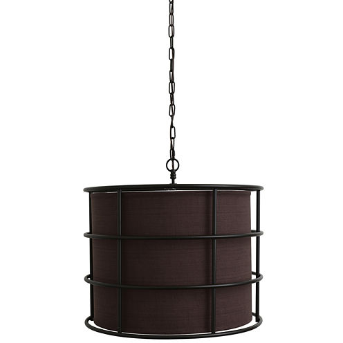 Décor Therapy Bronze Steel Cage Pendant Light