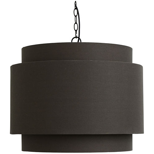 Décor Therapy Round Gray Shade Pendant Light