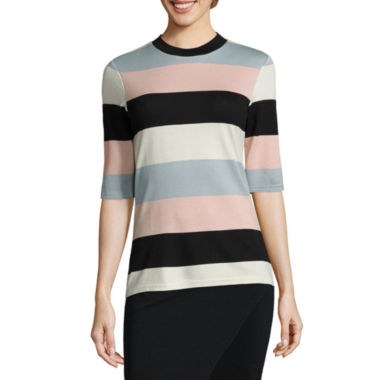 jcpenney.com | i jeans by Buffalo 3/4 Sleeve Mock Neck Top