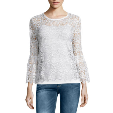 jcpenney.com | i jeans by Buffalo Bell Sleeve Lace Top