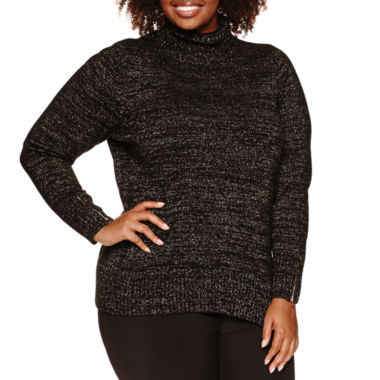 jcpenney.com | Alyx Long Sleeve Cowl Neck Sweater-Plus