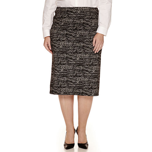Worthington® Split Back Knit Pencil Skirt - Plus