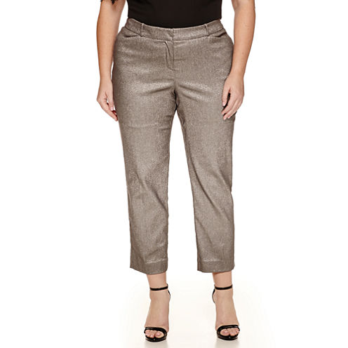 Worthington® Jacquard Ankle Pants - Plus