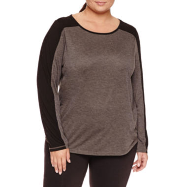 jcpenney.com | Xersion Long Sleeve Scoop Neck T-Shirt-Plus