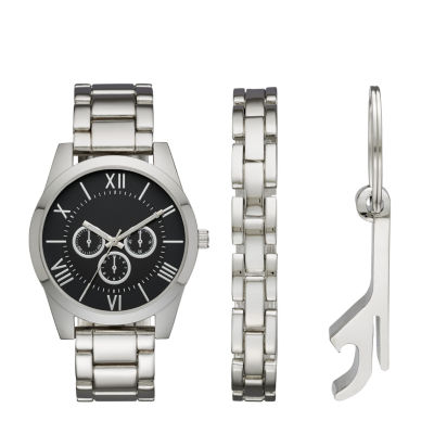 Mens Silver Tone 3 Pc. Watch Boxed Set Fmdjset528 by Fashion Watches