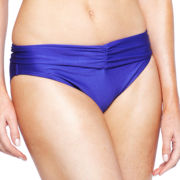 Ocean Dreams® Solid Shirred Banded Hipster Swim Bottoms