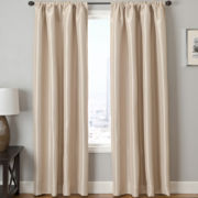 Tripoli Solid Rod-Pocket Blackout Curtain Panel