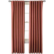 MarthaWindow™ Fairmount Basketweave Rod-Pocket/Back-Tab Cotton Curtain Panel