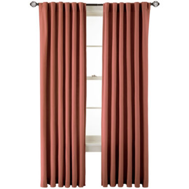 jcpenney.com | MarthaWindow™ Fairmount Basketweave Rod-Pocket/Back-Tab Cotton Curtain Panel