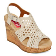 Pop Cher Ankle Strap Wedge Sandals