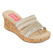 Pop Fairy Embellished Wedge Sandals