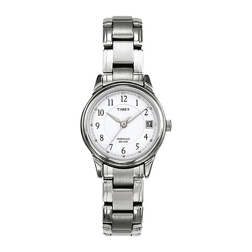 Timex® Elevated Classic Sport Chic Womens Stainless Steel Bracelet Watch T292719J