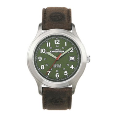 jcpenney.com | Timex® Expedition® Field Metal Mens Brown Leather Strap Watch T400519J