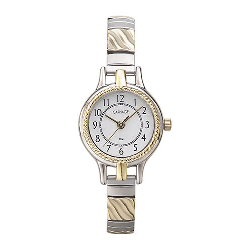 Carriage by Timex® Womens Two-Tone Stainless Steel Expansion Bracelet Watch C3C3599J