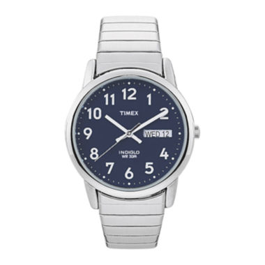 jcpenney.com | Timex® Easy Reader Mens Stainless Steel Expansion Strap Watch T200319J