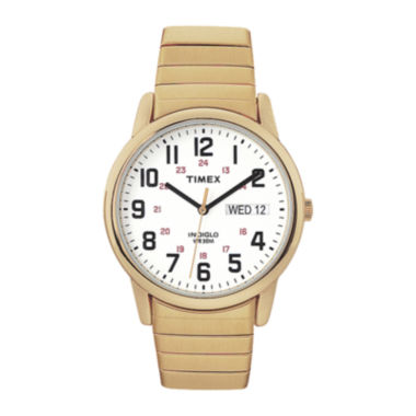 jcpenney.com | Timex® Easy Reader Mens Gold-Tone Stainless Steel Expansion Strap Watch T204719J
