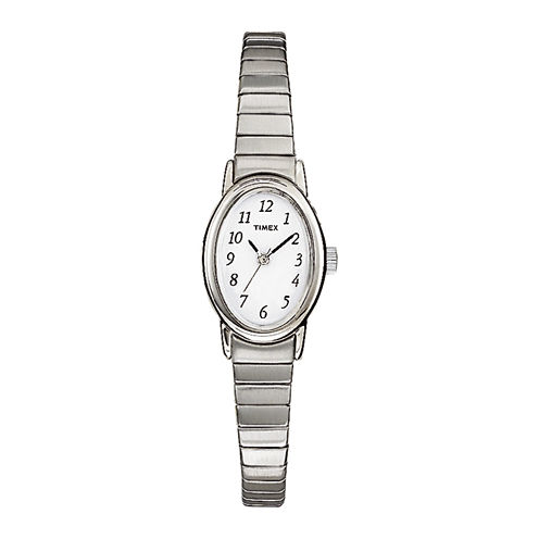 Timex® Cavatina Womens Stainless Steel Expansion Bracelet Watch T219029J