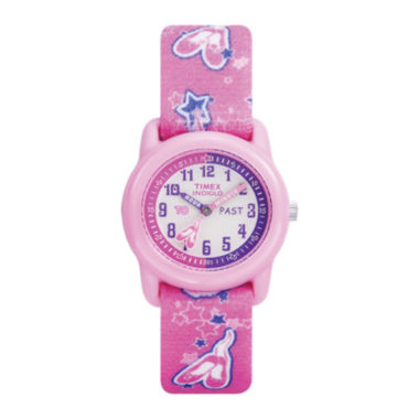 jcpenney.com | Timex® Easy Reader Kids Pink Fabric Strap Watch T7B1519J