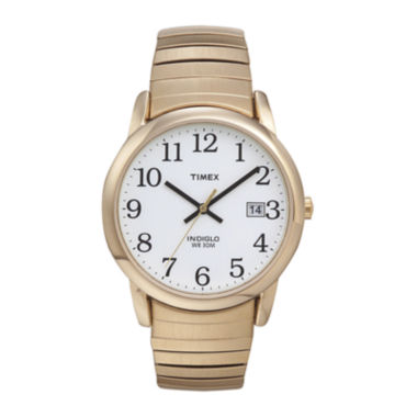 jcpenney.com | Timex® Easy Reader Mens Gold-Tone Stainless Steel Expansion Strap Watch T2H3019J