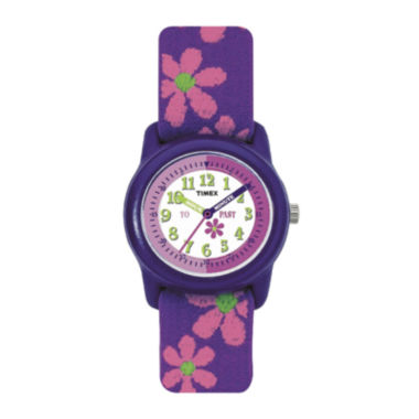 jcpenney.com | Timex® Easy Reader Kids Purple Fabric Strap Watch T890229J