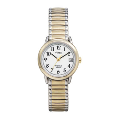 jcpenney.com | Timex® Easy Reader Womens Two-Tone Stainless Steel Expansion Bracelet Watch T2H4919J