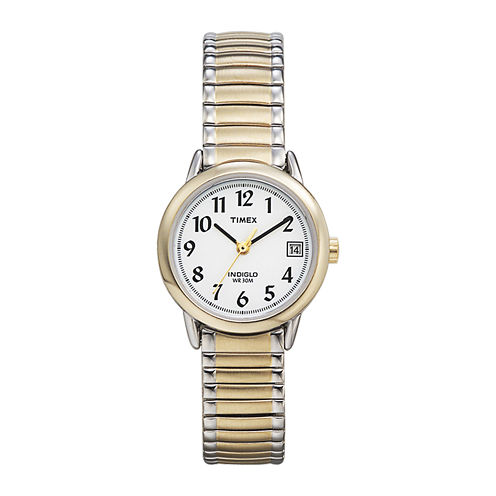 Timex® Easy Reader Womens Two-Tone Stainless Steel Expansion Bracelet Watch T2H4919J