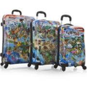 Heys® It's a Small World Maps 3-pc. Hardside Spinner Luggage Set