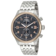 Invicta® Specialty Mens 18K Rose Gold Over Stainless Black Dial Chronograph Watch 10289