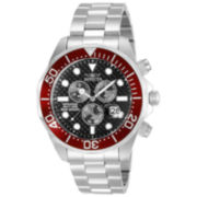 Invicta® Pro Diver Mens Black Dial Red-Accent Watch 12570