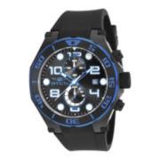 Invicta® Pro Diver Mens Black Silicon Strap Chronograph Sport Watch 17816