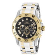 Invicta® Mens Pro Diver Black Dial Two-Tone Stainless Steel Watch