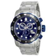 Invicta® Pro Diver Mens Stainless Steel Blue Dial Watch