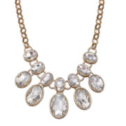 Mixit™ Clear Oval Crystal Gold-Tone Statement Necklace