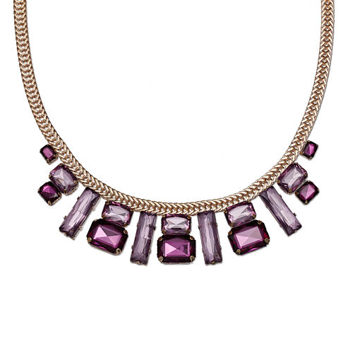 Mixit™ Deep Purple Crystal Gold-Tone Statement Necklace