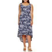 a.n.a® Sleeveless High-Low Maxi Dress - Plus
