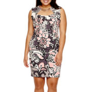 Bisou Bisou® Sleeveless Hardware Sheath Dress - Plus