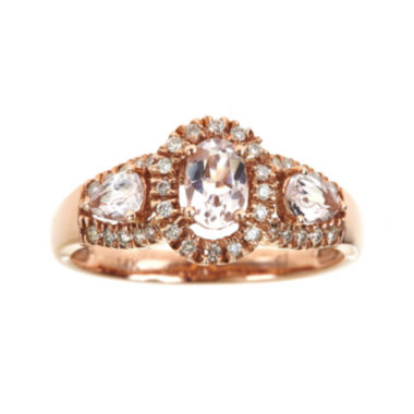 jcpenney.com | LIMITED QUANTITIES  Genuine Morganite and Diamond Ring