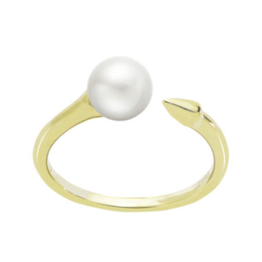 jcpenney.com | Cultured Freshwater Pearl and Arrow 14K Yellow Gold Open Ring
