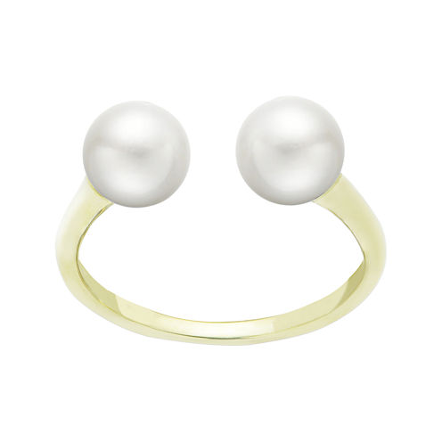 Cultured Freshwater Pearl 14K Yellow Gold Open Ring