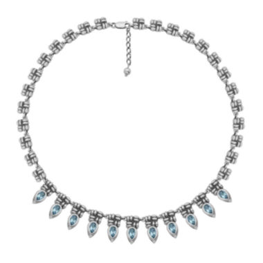 jcpenney.com | Genuine Sky Blue Topaz Oxidized Sterling Silver Collar Necklace