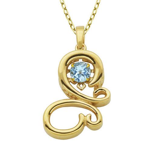 Genuine Sky Blue Topaz Butterfly Pendant Necklace