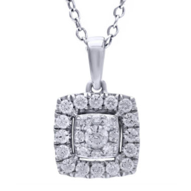 jcpenney.com | 1/2 CT. T.W. Diamond 14K White Gold Pendant Necklace