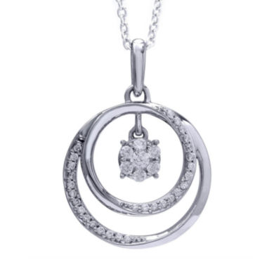 jcpenney.com | 1/4 CT. T.W. Diamond 14K White Gold Circle Pendant Necklace